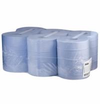 фото: Протирочная бумага Veiro Professional Comfort WP203 в рулоне с центральной вытяжкой, 175м, 2 слоя, синяя, 6шт