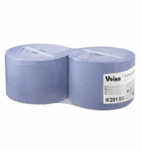 фото: Протирочная бумага Veiro Professional Comfort W201 в рулоне, 350м, 2 слоя, синяя, 2шт