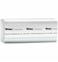 фото: Бумажные полотенца Veiro Professional Basic KV104 листовые, 250шт, 1 слой, белые, 15 пачек