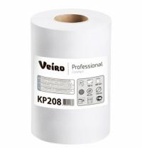 фото: Бумажные полотенца Veiro Professional Comfort KP208 в рулоне с центральной вытяжкой, 100м, 2 слоя, белые, 6 рулонов