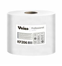 фото: Бумажные полотенца Veiro Professional Comfort KP206 в рулоне с центральной вытяжкой, 180м, 2 слоя, белые, 6 рулонов